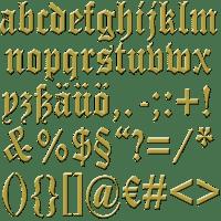 Las iniciales en el texto