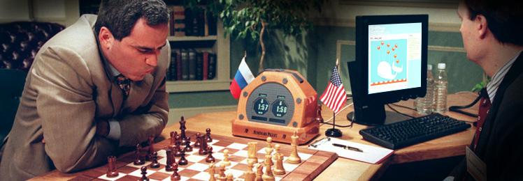Kasparov jugando contra la Deep Blue