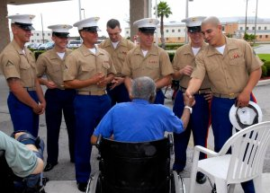 Marines Visit Nursing Home