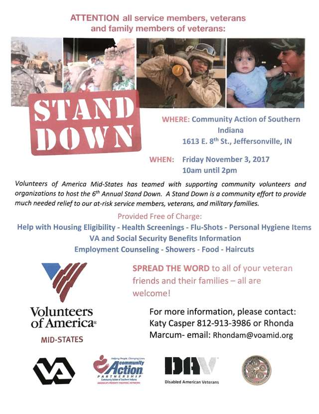 2017 Stand Down Flyer