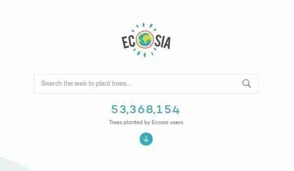 محرك البحث Ecosia