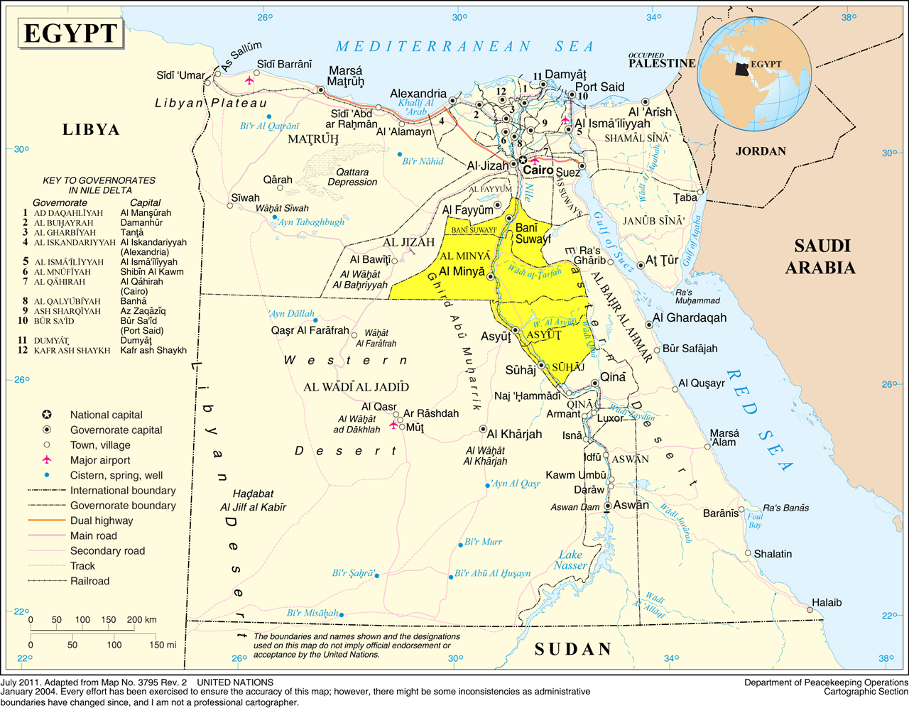The Nile Valley Middle Egypt