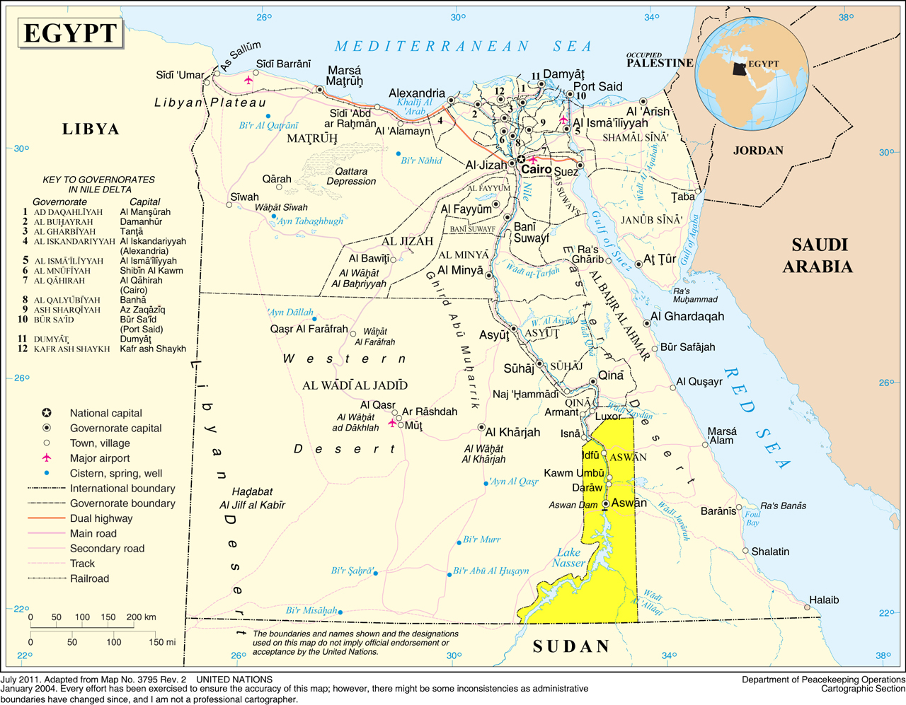 Ancient Egypt And Nubia Map