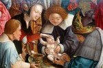Gemälde, das eine Beschneidung bei einem Baby darstellt