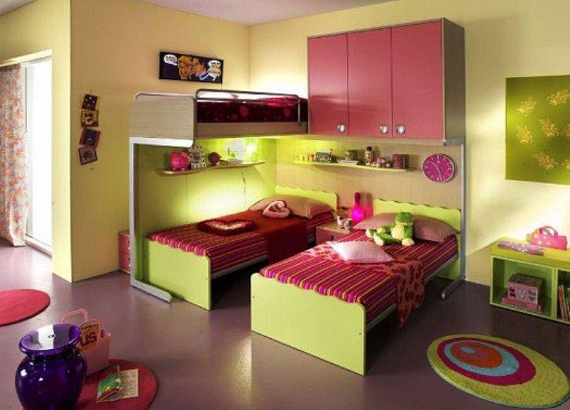 غرف نوم اطفال للمساحات الضيقة الراقية
