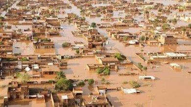 الفيضان في منطقة الجيلي