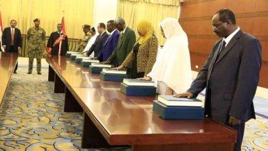 وزراء الحكومة المدنية يؤدون القسم