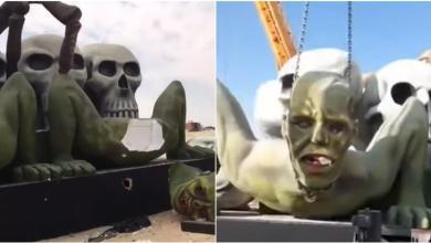 تكسير رؤوس تماثيل تم استخدامها في موسم الرياض السعودية