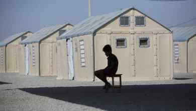 A Venezuelan refugee sits alone on a bench at a shelter in Brazil, March 28, 2019. © UNHCR/Vincent Tremeau