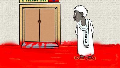 حرب أثيوبيا الأهلية ... كاريكاتير عمر دفع الله