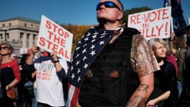 أنصار ترامب يتظاهرون ضد نتائج الانتخابات في بنسلفانيا