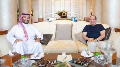 صورة تجمع الرئيس عبدالفتاح السيسي، وولي العهد السعودي محمد بن سلمان بشرم الشيخ
