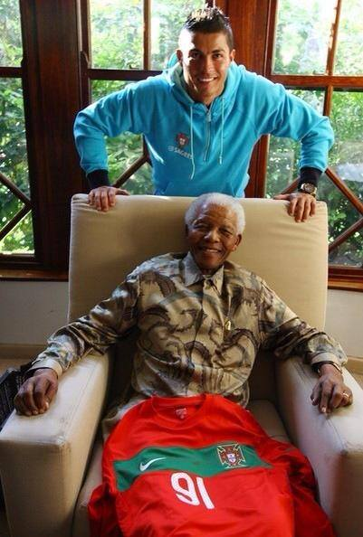 """Cristiano Ronaldo: Thankful Madiba for your legacy and your example. You""""ll always stay with us. (Facebook)"""