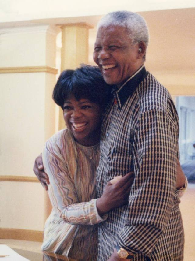 Oprah Winfrey: One of the great honors of my life was to be invited to Nelson Mandela's home, spend private time and get to know him. (Facebook)