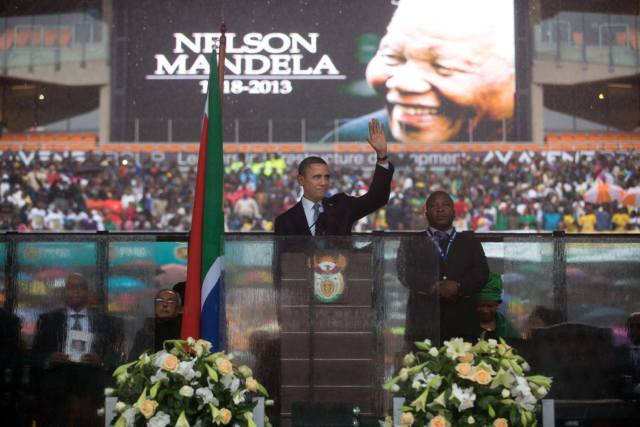 "Barack Obama: ""Madiba's passing is rightly a time of mourning, and a time to celebrate a heroic life."" (Facebook)"