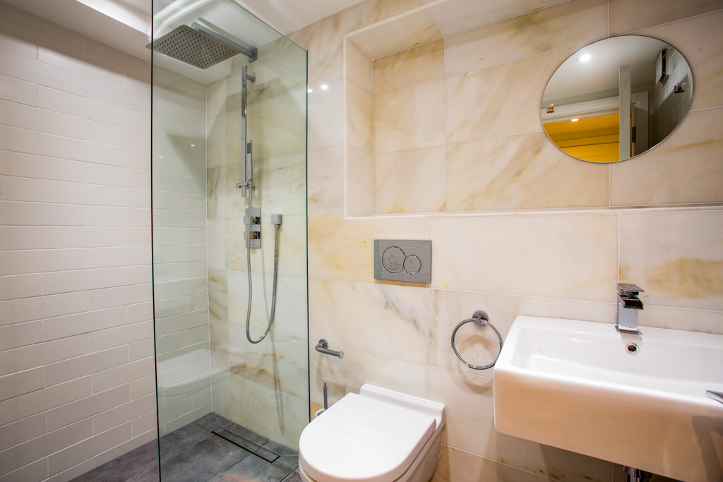 Redcliffe Bathroom with Marble Tiles