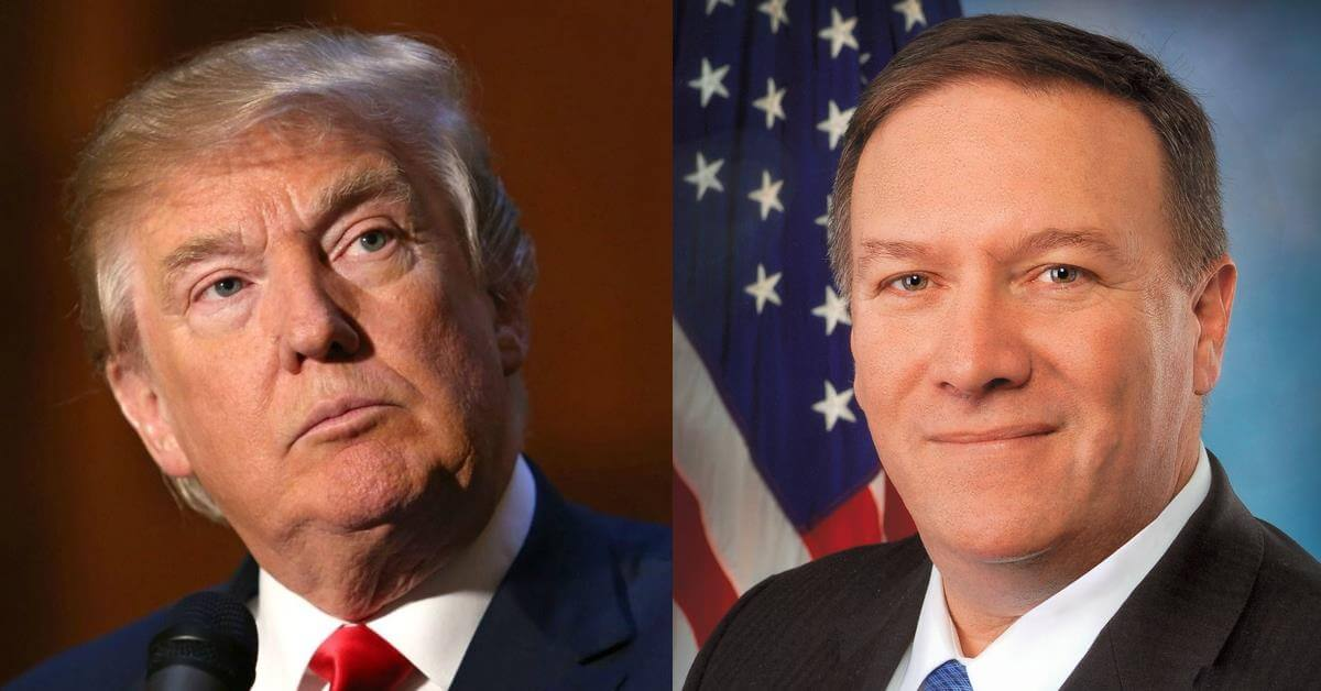 Image result for Trump and Mike Pompeo