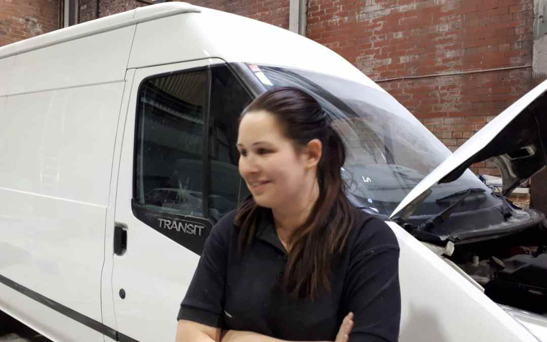 Fast turnaround bodywork repair on a Ford Transit in Wigan
