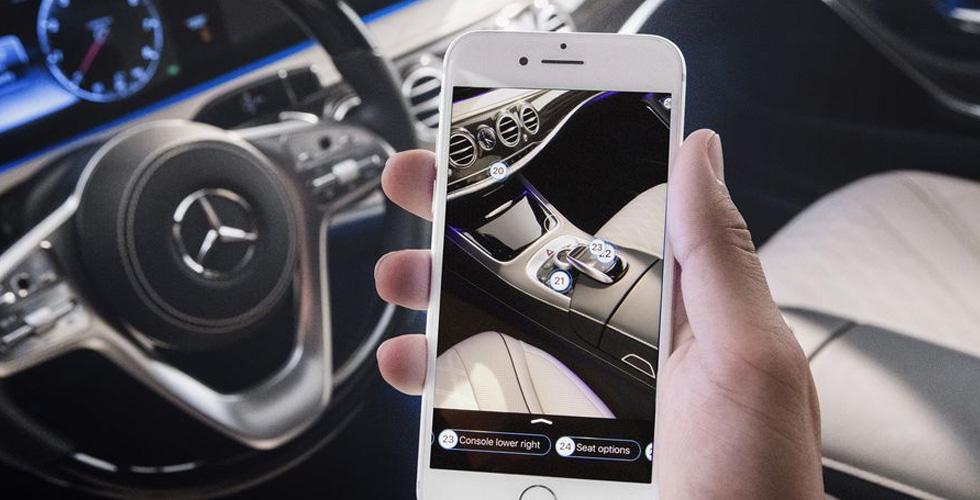 alsabbaq 67867 - شركة مرسيدس الألمانية تطلق تطبيق يفسر وظائف الواقع المعزز