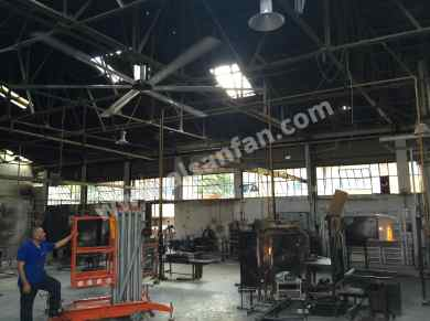 glass factory hvls fans