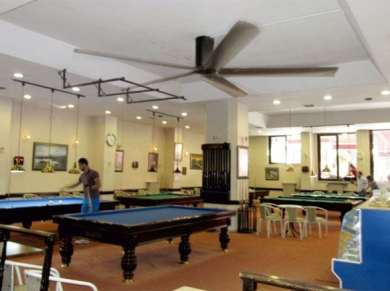 Billiards Hall Ceiling Fans Applications, Billiards Hall HVLS Fans Applications