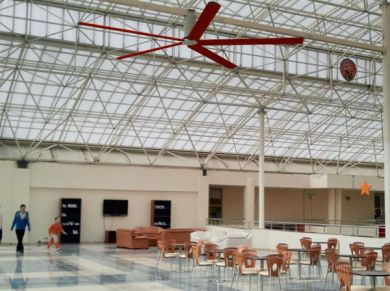 Education School Hall Ceiling Fans Applications, Education School Hall HVLS Fans Applications