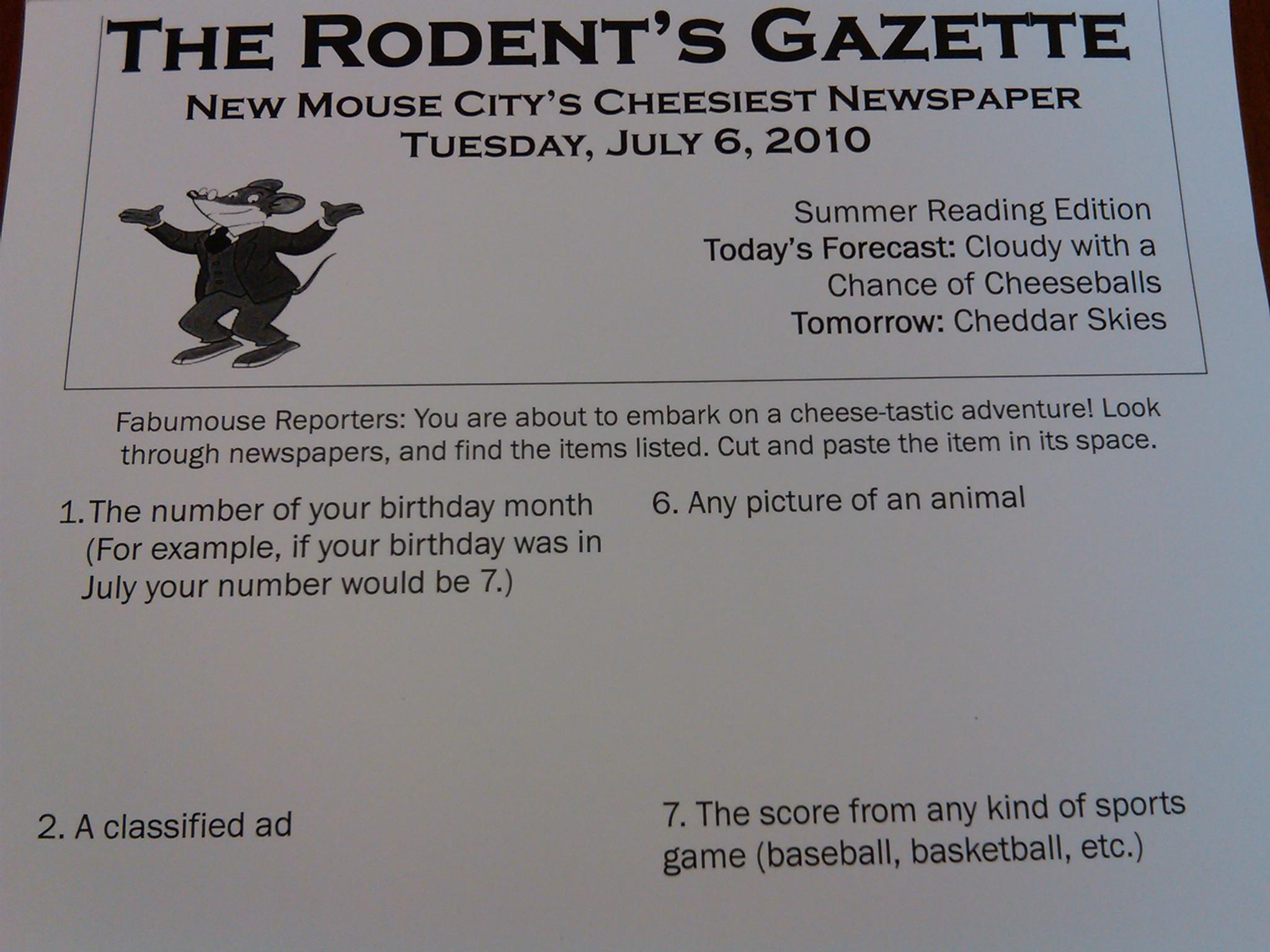 The Rodent S Gazette
