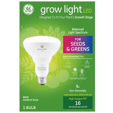 ge lighting grow light balanced spectrum led br30 9 w