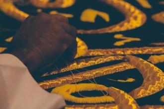 Tissage en or des décors de la Kaaba - Omra Janvier 2019 - AlSirate Voyage - Hajj & Omra
