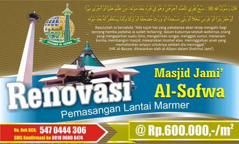Renovasi Masjid Jami' Al-Sofwa Jakarta