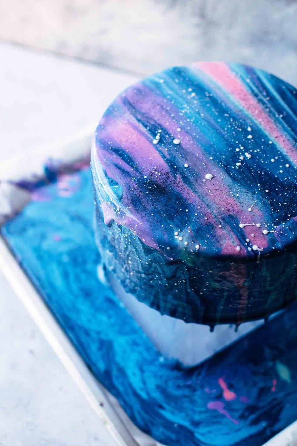 Galxay Glaze Mioror Cake