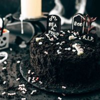 Death-By-Chocolate Halloween Cake