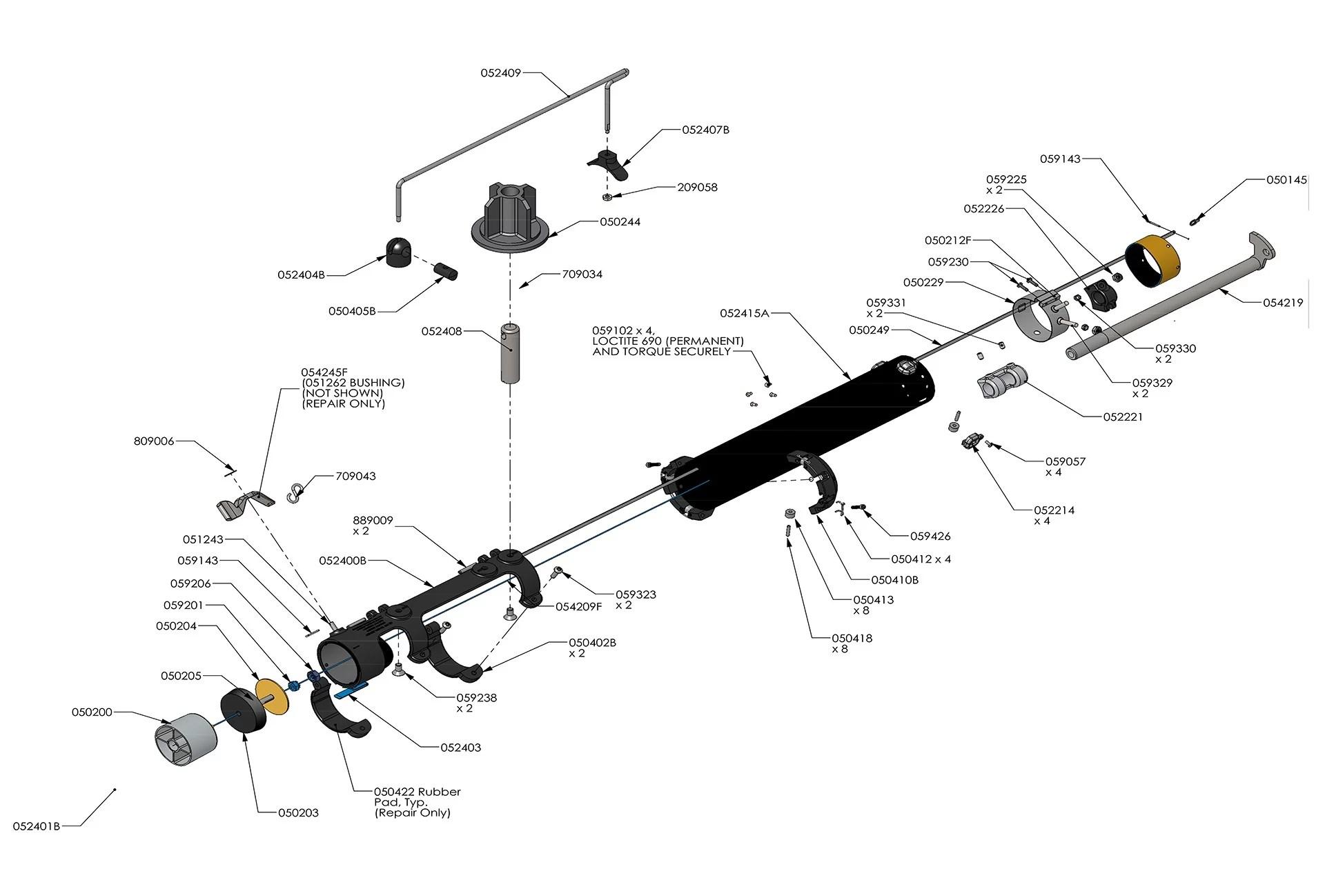 Tapetech Bazooka Diagram Schematic