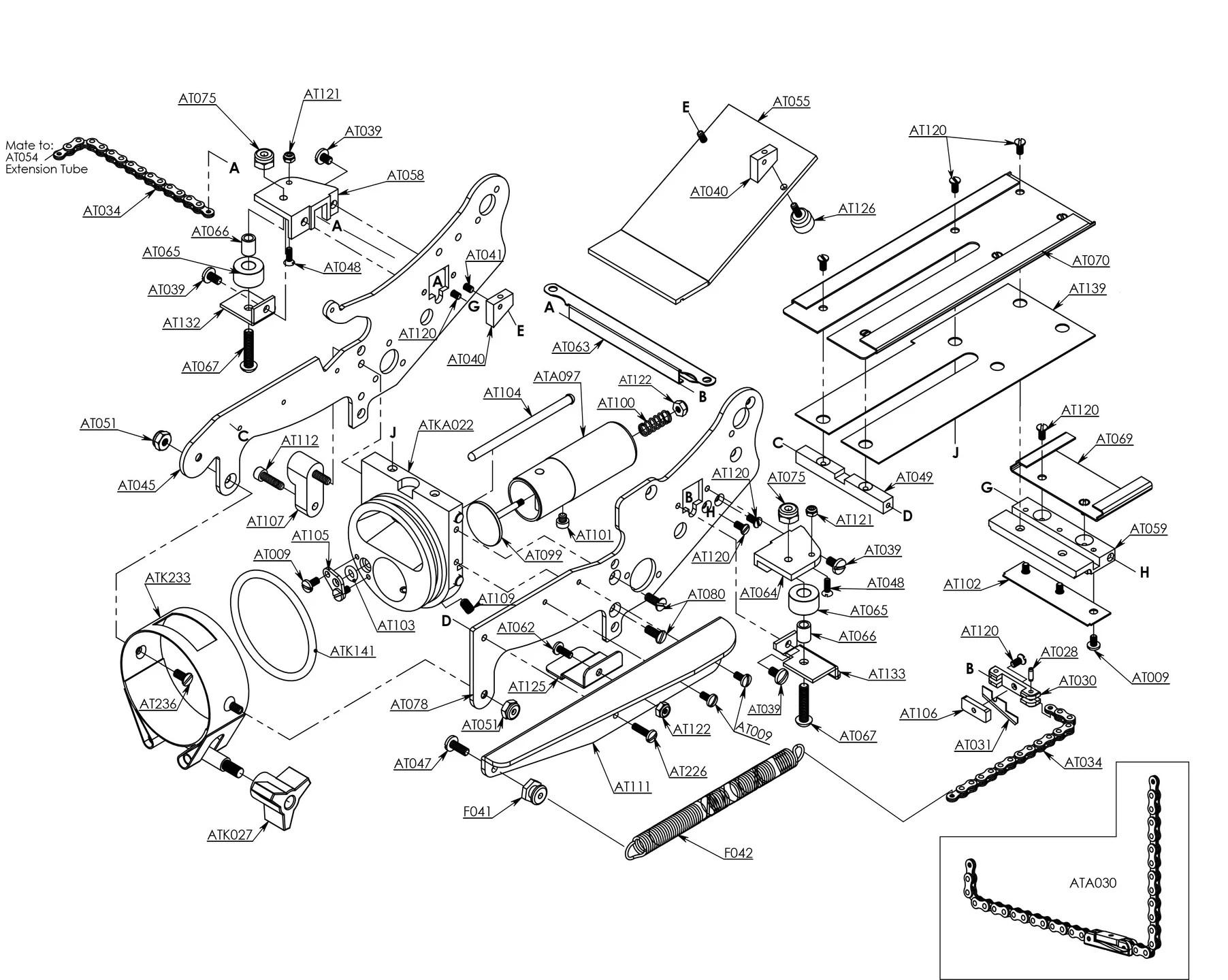 At Taper Lower Head Parts Diagram