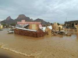 فيديو وصور لكارثة إنهيار المنازل بكسلا جراء الامطار والسيول