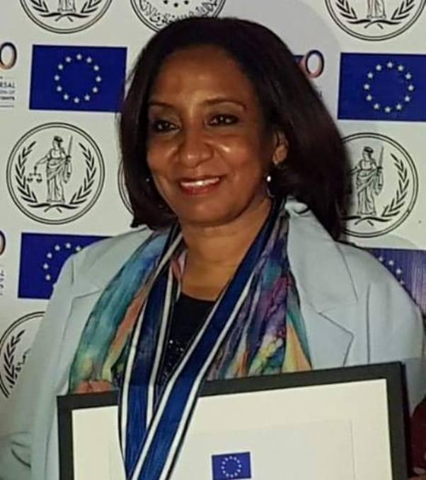 Nahid Jabrallah dedicates her award to violence survivors