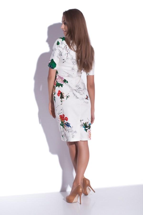 Sukienka midi z wzorek kwiatowym
