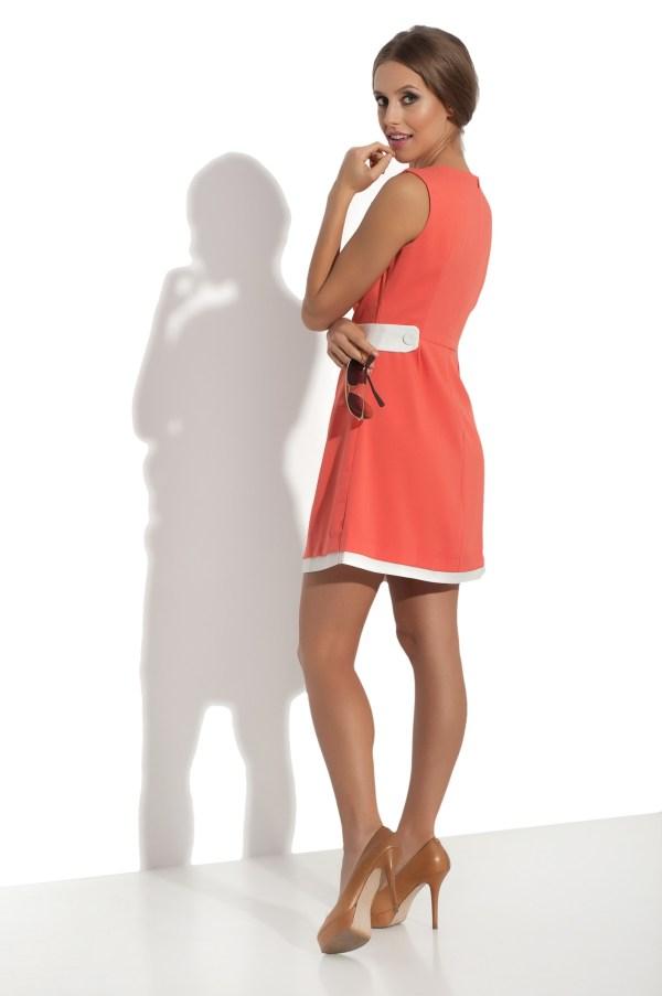 Sukienka mini retro model back