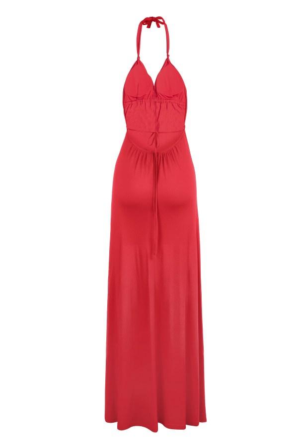 Sukienka maxi bawelniana z usztywnionym biustonoszem packshot back