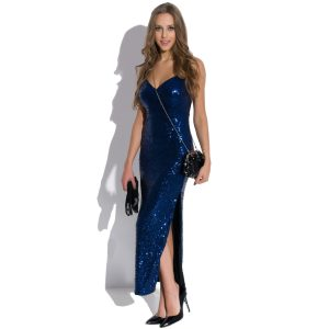 Robe longue en paillettes Queen of the Night