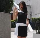 Kontrastowa mini sukienka Equinox