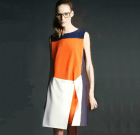 Geometrisches Kleid Colour Split