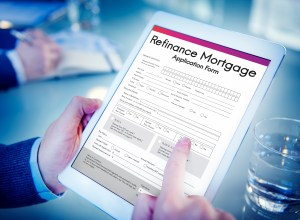 Refinance Mortgage Application Form Concept