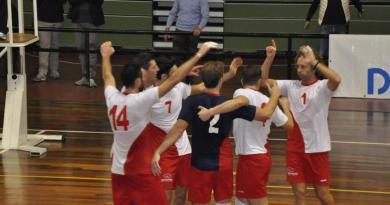 La Domar Volley festeggia dopo un punto