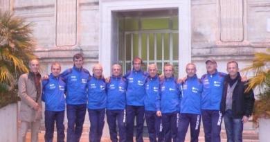 I maratoneti altamurani prima della partenza per Valencia