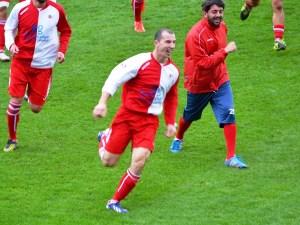 Sporting Altamura - Virtus Bitritto: l'esultanza di D'Introno dopo il goal