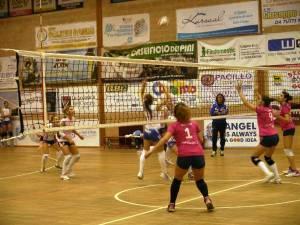 Una fase della partita tra Leonessa e Manfredonia