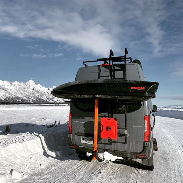 roof rack ski and snowboard carrier adapter