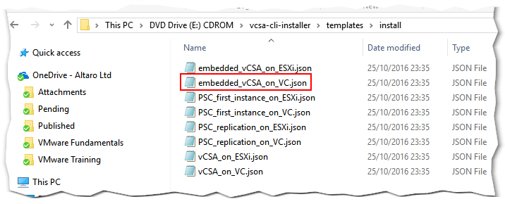 How to run an unattended vCSA installation