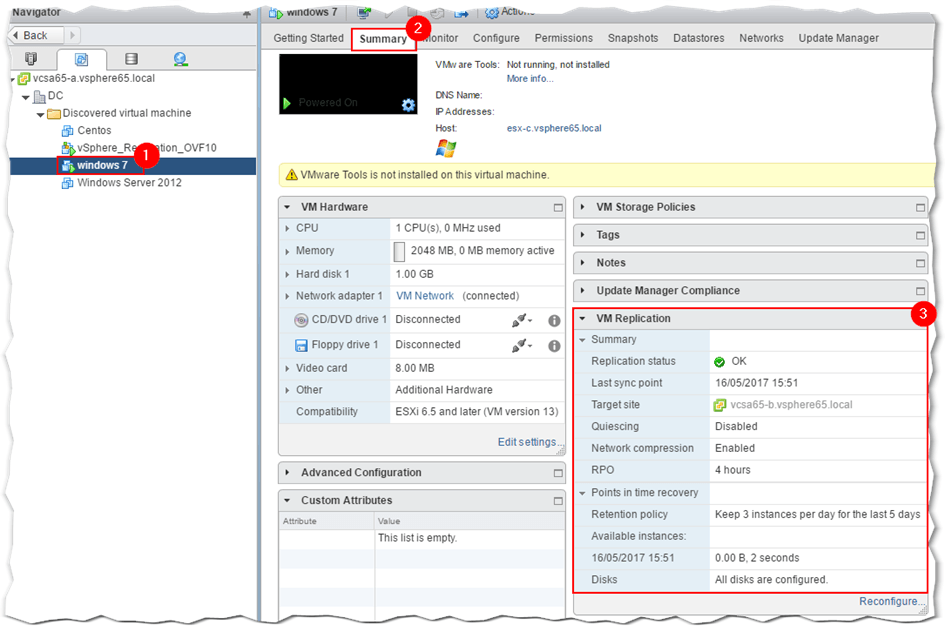Disaster Recovery using vSphere Replication - Part 2